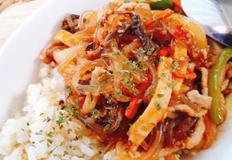 [남은명절음식] 매콤달콤하게 재탄생한 중화풍잡채덮밥