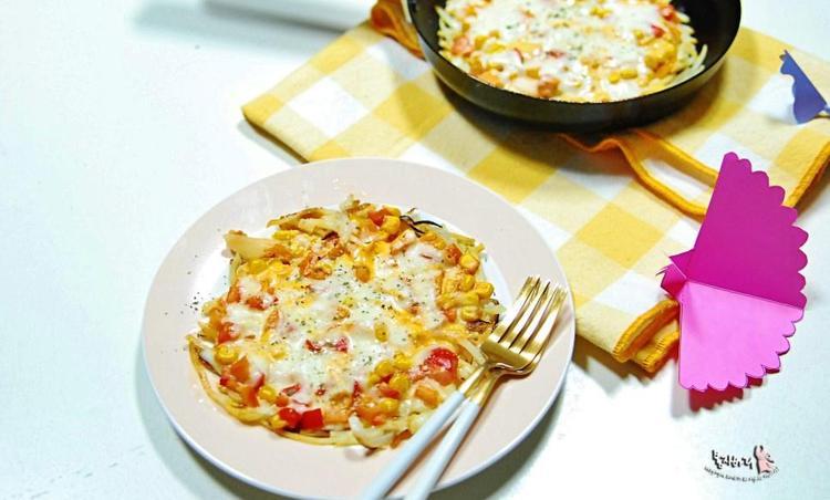 밀가루 1도 없는 아이 간식 감자채 피자