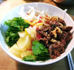 혼밥 분보싸오 베트남요리