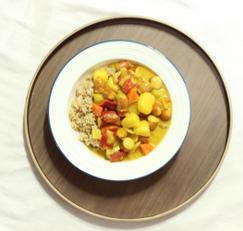 야채 소세지 카레 덮밥