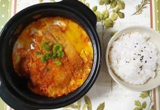 든든한 혼밥 돈까스김치나베