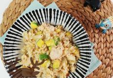 혼밥하기 딱 한그릇 요리) 담백한 닭가슴살 볶음밥 만들기