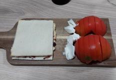 딸기잼 바른 토스트(에어프라이기 이용)