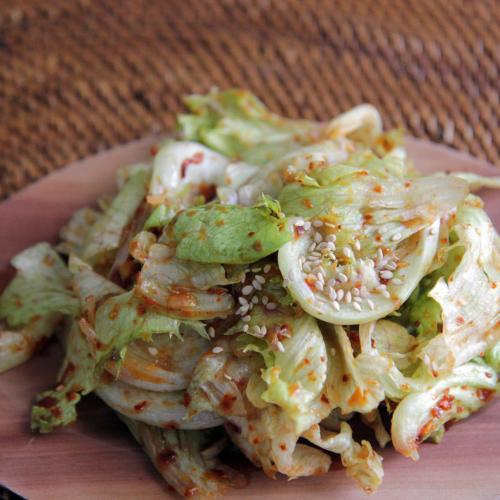 양상추로 반찬 만들기 : 양상추 겉절이 (lettuce)