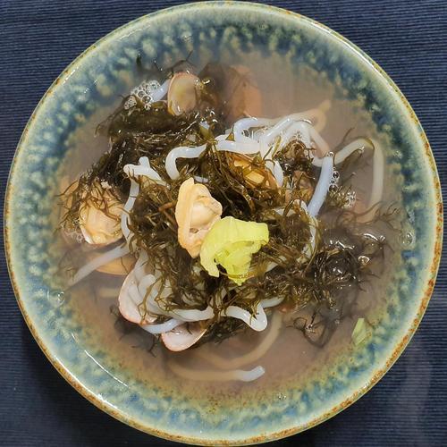 저칼로리 요리 곤약 해초 조개탕 (충남/태안)