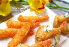 유부초밥, 새우튀김을 추가해 고급스럽게