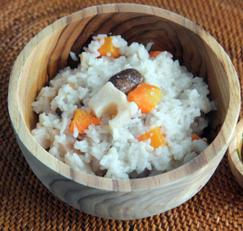 연근밥 ( lotus root rice )