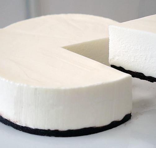 [노오븐] 순백의 레어 치즈케이크