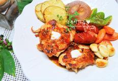 백종원 닭다리 치킨스테이크, 스테이크 소스 만들기