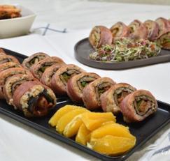 베이컨 김밥 만들기