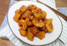 구황작물 매운 감자조림 만드는법 새우넣고 더 맛있게!