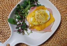간단아침, 브런치 :) 잉글리쉬머핀 햄치즈계란오픈샌드위치