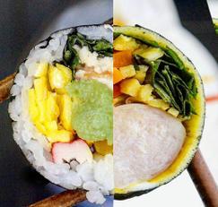 두 종류의 다이어트 김밥 만들기! <닭가슴살마요김밥 vs 닭가슴살소세지김밥>