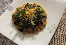 구황작물 고구마채 피자 샐러드