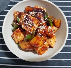 감자두부조림 (구황작물요리)