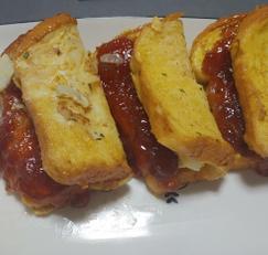 프렌치 양파 딸기잼 토스트 만들기