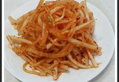 백종원 무생채 무침과 무생채 비빔밥 가을의 맛