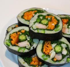 밥 없이 비타민 가득한 '풋고추감자김밥' 만들기, 다이어트 레시피