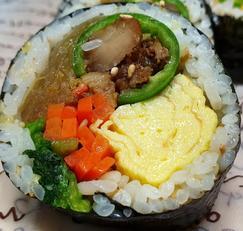 풋고추 갈비 김밥 만들기