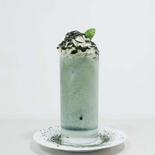 홈카페 쑥 연유 라떼 만들기 | 향긋한 쑥, 달달한 연유와 부드러운 우유로 만드는 쑥 연유 라테 레시피