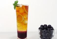 홈카페 포도 홍차 에이드 만들기   과일의 여왕 새콤달콤 보랏빛 포도로 만드는 포도 홍차 소다 레시피