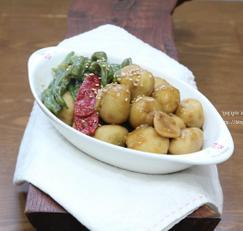 풋고추요리, 토란 꽈리고추조림 맛있다.