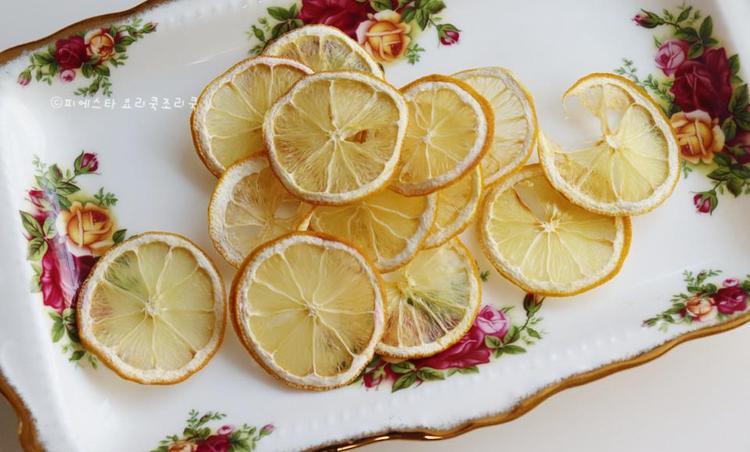 레몬칩 만들기♬ 에어프라이어 건조과일 칩