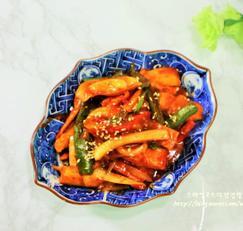 매운 어묵볶음 남은 야채들로 만든냉파요리