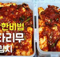 김장김치 아삭하고 맛있게 무김치 젓갈은? 알타리총각김치