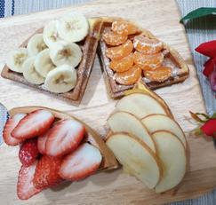 ♥[신혼밥상] 사과*딸기 비타민와플