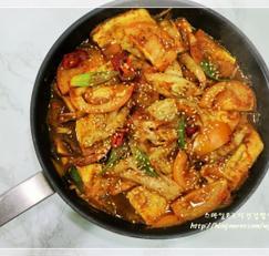 두부조림 떠먹는 토마토 새우 두부조림 냉파요리