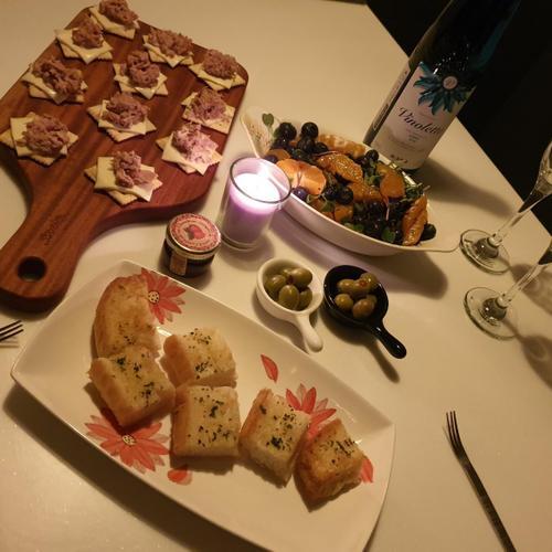 참치카나페:) 크리스마스 홈파티 와인안주