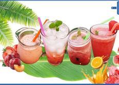 여름 제철 과일로 만드는 4가지 생과일 주스! 토마토 자두 주스, 자두 에이드, 태국 수박 쥬스 땡모반, 쥬씨 수박