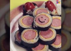 목우촌 아이들 도시락 간식요리 소세지 김밥
