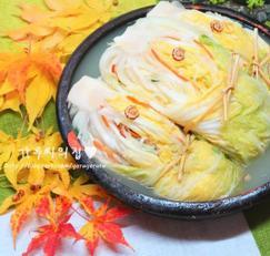 시원한 국물이 일품인 백김치(배추물김치)