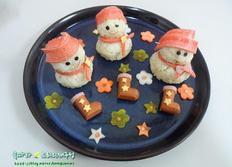 크리스마스 홈파티요리 눈사람주먹밥/참치주먹밥
