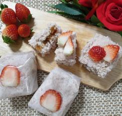 ♥[신혼밥상] 겨울간식 딸기백설기