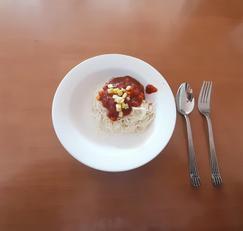 소면으로 토마토 스파게티 만들기(초간단)