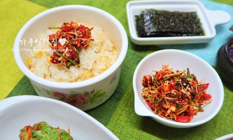 달래양념장 & 콩나물밥 만들기