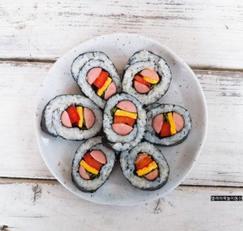 홈쿡 소풍도시락~ 귀여운 햄버거김밥