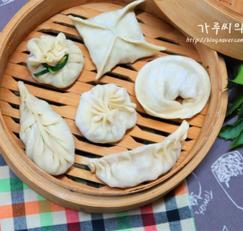 만두 6가지 모양 예쁘게 빚는법 (둥근/ 사각/ 반달 주름/호빵/복주머니/ 나뭇잎)