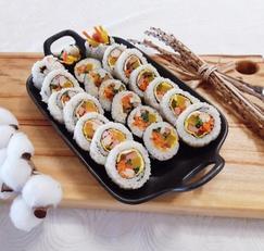 소풍도시락 김밥 예쁘게 싸는법 피크닉 누드김밥 마는법