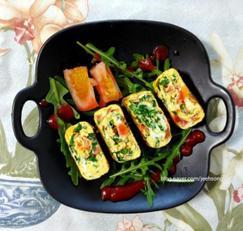 루꼴라토마토달걀말이:그러나, 냉이달걀말이를 추천합니다