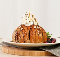 강릉 육쪽마늘빵 에어프라이어로 만들어보기! : 크림허니브레드볼