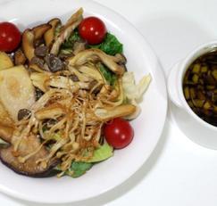 다이어트 식단, 구운 버섯샐러드 만드는법