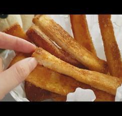 초간단 식빵 요리 식빵츄러스 노오븐