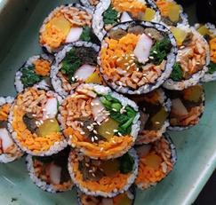 매운어묵과 알싸한 갓김치의 콜라보, 매운어묵 갓김밥
