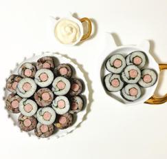 소시지김밥 만들기 깻잎까지 들어있어 도시락으로 좋아요 :)