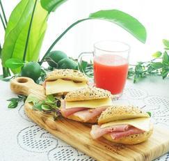 잠봉뵈르 샌드위치 만들기 아침 브런치 메뉴