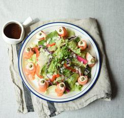 연어샐러드 만들기 생연어로 신선한 샐러드와 오리엔탈 드레싱 레시피